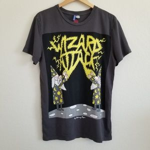 H&M Johnny Ryan Wizard Attack Graphic T Shirt L